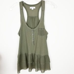 AERIE Tank Top with Ruffled Hem